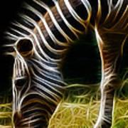 Striped Fractal Art Print