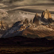 Striped Sky Over The Patagonia Spikes Art Print