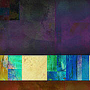 Stripes And Squares - Abstract -art Art Print by Ann Powell