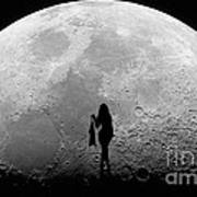 Stripper On The Moon Art Print