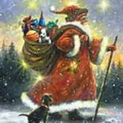 Strolling Santa II Art Print