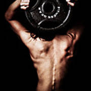Strong Back And Arms Art Print by Jt PhotoDesign