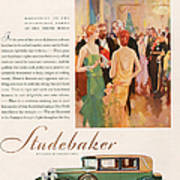 Studebaker 1929 1920s Usa Cc Cars Art Print by The Advertising Archives
