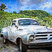 Studebaker Goes To The Beach Art Print