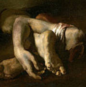 Study Of Feet And Hands, C.1818-19 Oil On Canvas Art Print