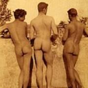 Study Of Three Male Nudes Art Print