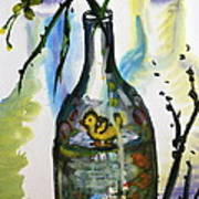 Study - Yellow Ducky In  Bottle Art Print