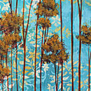 Stunning Abstract Landscape Elegant Trees Floating Dreams II By Megan Duncanson Art Print