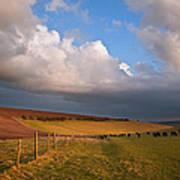 Stunning Scene Across Escarpment Countryside Landscape With Bea Art Print by Matthew Gibson