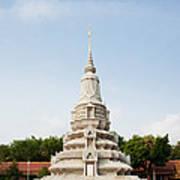Stupa At The Silver Pagoda, Cambodia Art Print
