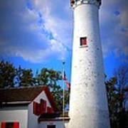 Sturgeon Point Lighthouse Michigan Art Print