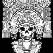 Stylized Skull. Pagan God Of Death Art Print