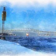 Sub-zero Blue Water Art Print