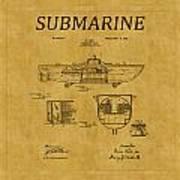 Submarine Patent 5 Art Print