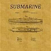 Submarine Patent 7 Art Print