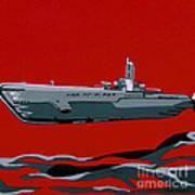 Submarine Sandwhich Art Print