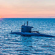 Submarine Sunset Art Print