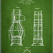 Submarine Telescope Patent From 1864 - Green Art Print