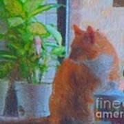 Suburban Jungle Cat Art Print