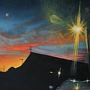 Suburban Sunset Oil On Canvas Art Print