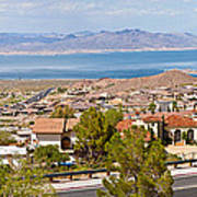 Suburbs And Lake Mead With Surrounding Art Print
