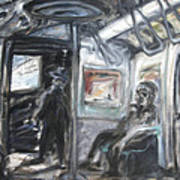 Subway Car Interior Art Print