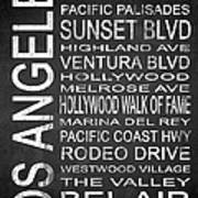Subway Los Angeles 2 Art Print