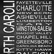 Subway North Carolina State 1 Art Print