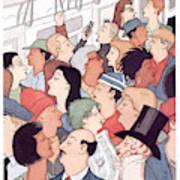 Subway Riders All Resemble Eustace Tilley Art Print