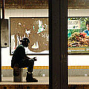 Subway Sitter Art Print
