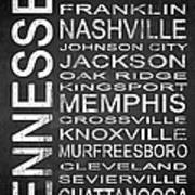 Subway Tennessee State 1 Art Print