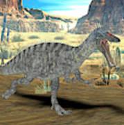 Suchomimus Dinosaur Art Print