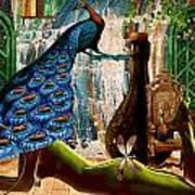 Suck My Peacock Art Print