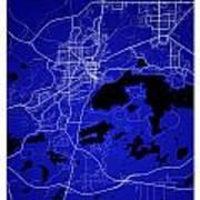 Sudbury Street Map - Sudbury Canada Road Map Art On Colored Back Art Print