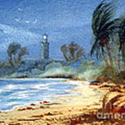 Sudden Storm Faro De Punta Tuna Art Print