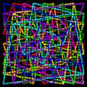 Sudoku Connections Weave Art Print