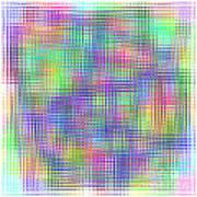 Sudoku Connections White Glass Mosaic Art Print