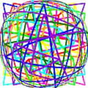 Sudoku Connections White Spherize Art Print