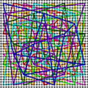 Sudoku Connections White Weave Art Print