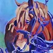 Suffolk Punch Draft Horse Plow Match Art Print
