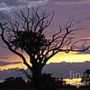 Suffolk Sunset Recalled Art Print