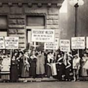 Suffrage Protest, 1916 Art Print
