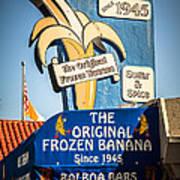 Sugar And Spice Frozen Banana Sign On Balboa Island Art Print