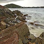Sugar Bay Rocks Art Print