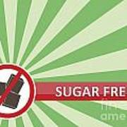 Sugar Free Banner Art Print