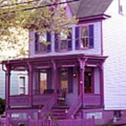 Sugar Plum Purple Victorian Home Art Print