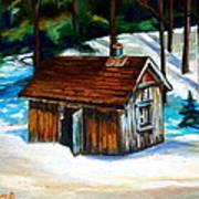 Sugar Shack Quebec Landscape Art Print