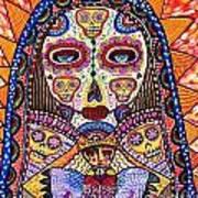 Sugar Skull Angel Heart' Art Print