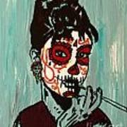 Sugar Skull Audrey Art Print