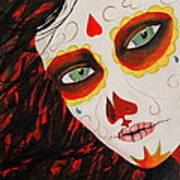 Sugar Skull Art Print by Kip Krause